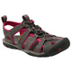 Keen Clearwater CNX Leather Sandals Women Magnet/Sangria
